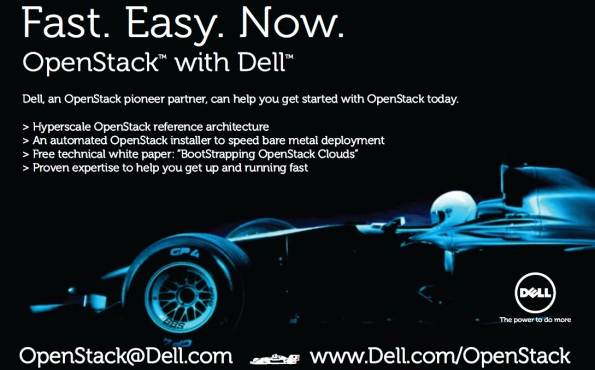 Fast. Easy. Now.  The Dell OpenStack Cloud Solution