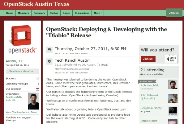 OpenStack Meetup - Thu, 10/27  6:30pm