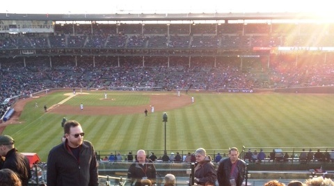A beautiful day at Wrigley Field